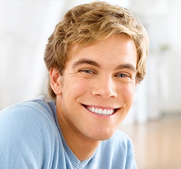 Young man with flawless smile