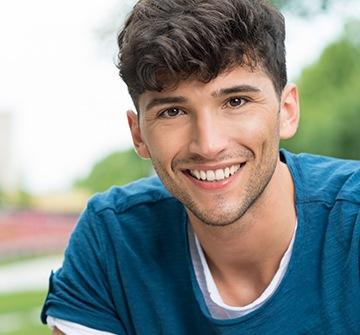 Teen boy with healthy smile